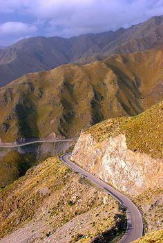 """Ruta 5, Sierra de Comechingones, """"El Filo"""", Merlo, Provincia de San Luis, Argentina"""