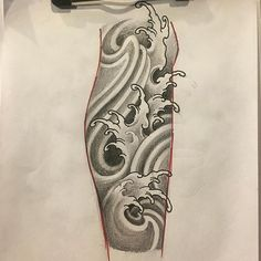 Wave Tattoo Sleeve, Tattoo Sleeve Filler, Tattoo Sleeve Designs, Tattoo Designs Men, Japanese Water Tattoo, Japanese Tattoo Art, Japanese Sleeve Tattoos, Forearm Tattoo Design, Forearm Tattoos