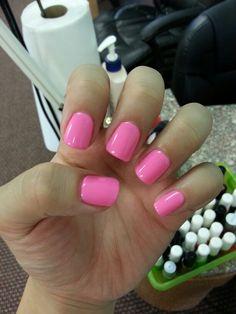 No-chip Manicure #gel #pink #polish #pretty #cute #nailpolish #shiny #plainjane