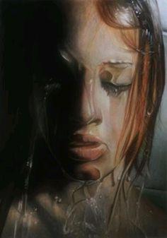 Ivan Hoo Art. Color pencil and charcoal on paper.
