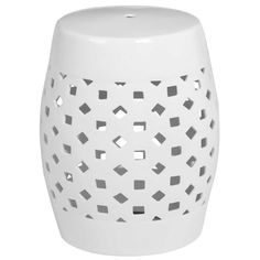 Inspired by the now iconic Chinese garden stools, this stunning piece made from ceramic is sure to catch the eye! Featuring perforated ceramic it will be useful indoors or outdoors.