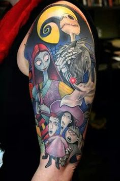 Nightmare Before Christmas tattoo don't think I would get it but this is awesome!