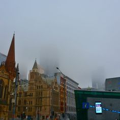 Lost: One skyline if found please return to @cityofmelbourne #Melbwinter #Melbourne