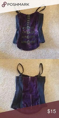 b90740b8e92a0 Vintage Purple velvet vampire tripp corset Cute gothic tripp corset Goth  vampire…