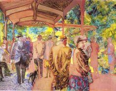 konkoly gyula A gyógyfürdő parkja Painters, Contemporary Art, Modern Art, Contemporary Artwork