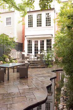 Voorhees Dorobek Residence traditional patio. Gardenwise, Arlington, VA.