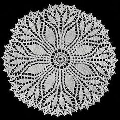 NEW! Fern Leaf Doily crochet pattern from Star Doily Book No. 137, by American Thread Company.