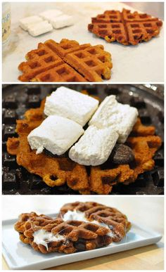I want to make all these foods in a waffle iron!!!!!!! It would be so fun and the food turns out so pretty with those little checkers :) :)