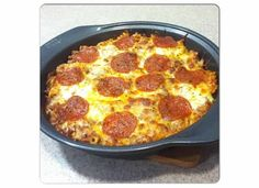 On Cloud Yum: Pizza Casserole w/ Ground Beef
