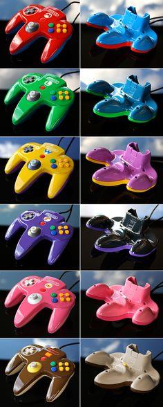 Custom Mario Party N64 controllers by Zoki64.deviantart.com on @DeviantArt