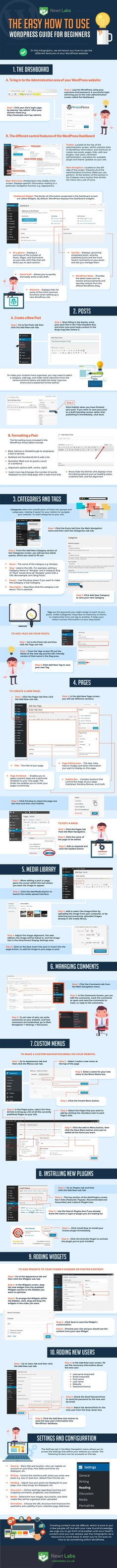 WordPress for Beginners: 10 Steps to Successfully Managing Your Site [Infographic]