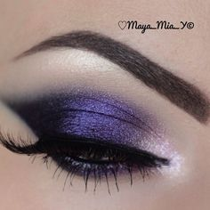 Purple winged out smokey eye  @ maya_mia_y