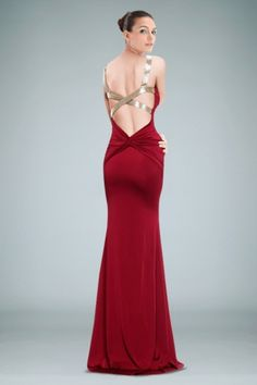 Fabulous Sheath Evening Dress Highlighted with Delicate Ruches and Sequined Straps Crossed Back