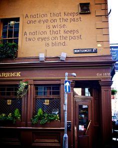 Irish pub with a  good use of wall space in Belfast. ASPEN CREEK TRAVEL - karen@aspencreektravel.com