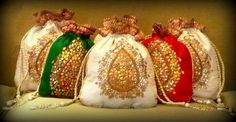 potli Bags in Lovely colours.