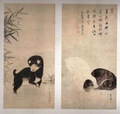 Tawaraya Sôtatsu - Puppy. The smile in japanese Art - from the Jomon Period to the Early Twentieth Century.