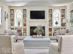 House Design, Interior Design, Atlanta Homes, Decor Around Tv, Family Living Rooms, Southern Style Home, Small Apartment Living Room, Home Decor, Home And Living