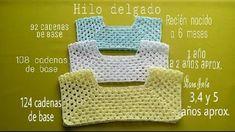Baby Patterns Dress Patterns Crochet Patterns Baby Jackets Kids And Parenting Baby Dresses Baby Knitting Diagram Elsa Y - Salvabrani Crochet Yoke, Crochet Girls, Crochet Baby Clothes, Freeform Crochet, Crochet For Kids, Crochet Hats, Filet Crochet, Crochet Clutch, Blanket Crochet