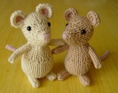 Set of two lovely mice choose your colors by Yarnigans on Etsy, $22.00