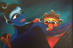 shiva and ganesha painting by Deeksha Roy at Pradarshak