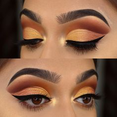 Tutorial for this sunset coloured Cut Crease is now up on my channel! Click the… Tutorial for this sunset coloured Cut Crease is now up on my channel! Click the link in my bio to check out how I created it! Maquillaje Cut Crease, Eye Makeup Cut Crease, Eye Makeup Art, Eye Makeup Tips, Smokey Eye Makeup, Makeup Inspo, Beauty Makeup, Makeup Ideas, Sexy Makeup