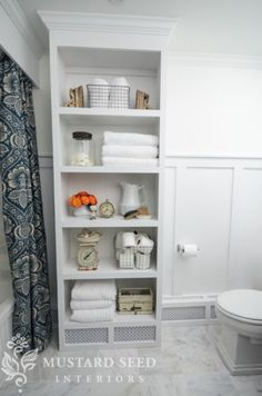 My Home The Paint Colors Miss Mustard Seed Benjamin Moore Bright White Off The Bathroom Shelvesbathroom