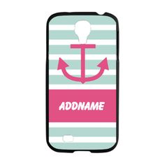 Mint Pink Nautical Stripes Samsung Galaxy S4 Case