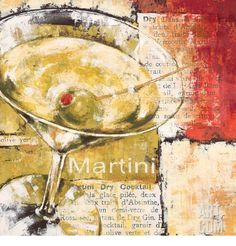 Martini Day Print