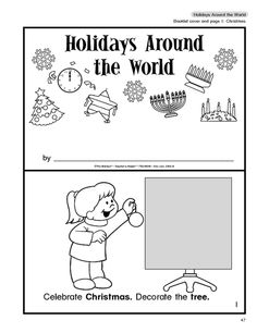 Great free booklet on holidays around the world, for Pre-K, K, 1.