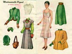 jack jill paper dolls | Vintage December 1947 Paper Doll Jack and Jill Magazine MADEMOISELLE ...