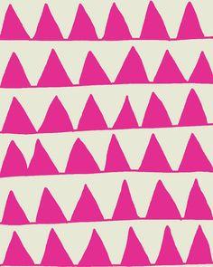 Fine Art Print.  Pink Triangles.  August 3, 2011.