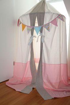 Baldachin kinderzimmer selber machen  spielerische Zelte für Kinder baldachin | DIY kinderzimmer ...