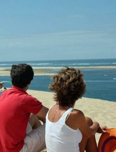 Enjoy the calming views from the sandy dunes of Arcachon