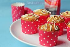 Pommergranate and coconut muffins