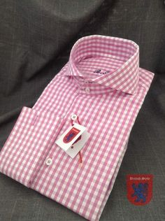Pink for Summer by Pink Check Shirt, Gents Shirts, High Collar Shirts, French Cuff Dress Shirts, Cutaway Collar, Business Shirts, Cheap Shirts, African Wear, Well Dressed Men