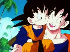Goten and Goku!! The first time they met (':