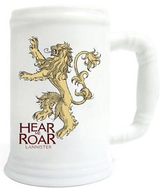 Game of Thrones Bierkrug Lannister weiß