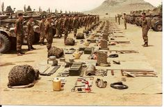 South African 2 Special Service Battalion with their Eland Armoured cars ready for inspection at Zeerust Military Couples, Military Love, Army Love, Military Art, South African Air Force, World Conflicts, Defence Force, African History, Military History