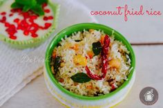 A easy and quick Coconut rice with traditional South Indian style tempering…