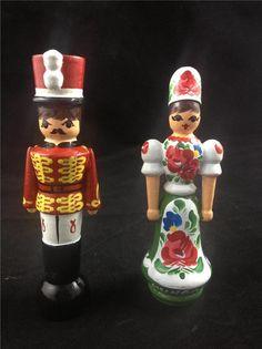 Hungary Wood Carved Nutcracker Couple Figure Set  | eBay