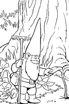 david the gnome coloring page