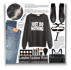 """Romwe~~ ♥"" by av-anul ❤ liked on Polyvore featuring Citizens of Humanity, McQ by Alexander McQueen, Aamaya by Priyanka, MAC Cosmetics, NYX, Urbanears, romwe, topset and avanul"