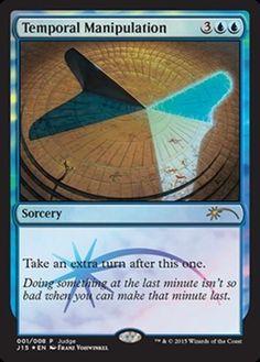 Temporal Manipulation DCI Judge foil mtg Magic the Gathering card