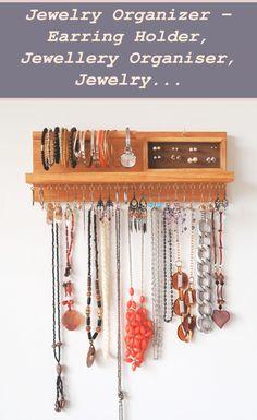 Jewelry Organizer Wall Stud Earrings | Jewelry organizer - Earring holder, Jewellery organiser, Jewelry and accessories organiser, ring holder, Mothers day gift, bracelet holder | Jewelry Organizer Closet | Jewelry Organizer Drawer Necklaces Charm Jewelry, Jewelry Sets, Beaded Jewelry, Jewellery, Closet Organization, Jewelry Organization, Wall Stud, Jewelry Organizer Drawer, Bracelet Holders