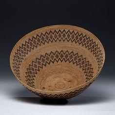 Yokuts Polychrome Basket    American Indian Art www.fairfieldauction.com