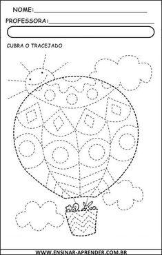 Airballoon tracing lines Preschool Writing, Preschool Worksheets, Kindergarten Activities, Preschool Activities, Drawing For Kids, Art For Kids, Pre Writing, Motor Activities, Childhood Education