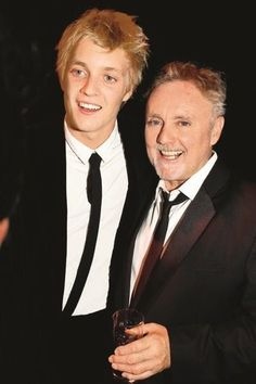 Rufus Taylor and his dad, Roger Taylor. Rufus looks so much like Roger, except he's taller