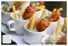 Chippy tea canape