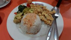 rice with fried squid
