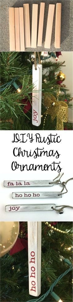 These are super cute! I have some scrap wood that would work perfect for these! Love the rustic look and now I can add it to my Christmas tree.